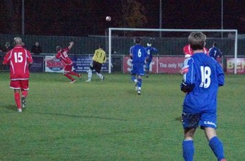 Final moments of the game-Harlow nearly grab all 3 points. RESULT HARLOW 1 GRAYS 1.
