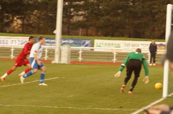 Ryans goal on the way in.