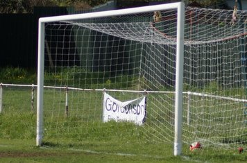 INTO THE NET -GRAYS 1-0 UP.