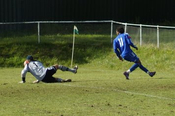BEATEN BY THE KEEPER.