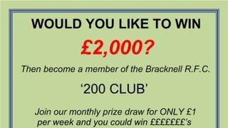 200 Club March & April winners