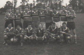 "University Vandels v BRFC (c1968) BR - Dave Pratt Middle - Dale Ball & Jamie Maunder end right. FR middle Bernie Davis and Dave Edwards  & end right Brian ""Red Head"" Butler"