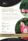 J Heald Coaching Courses Summer 2019