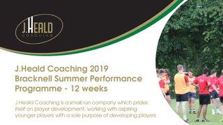 Bracknell Summer Programme - J Heald Coaching