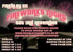 FIREWORKS NIGHT- SAT 3RD NOVEMBER FROM 5PM