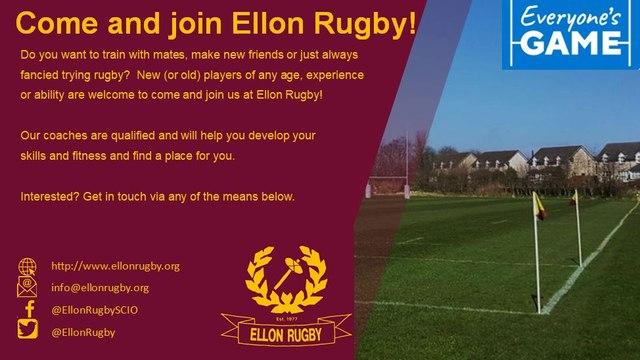 Come and Join us at Ellon Rugby!