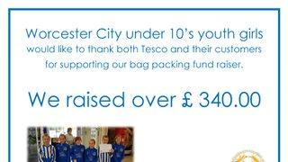 City U10 Girls Go Fundraising!
