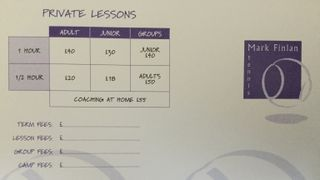 New coaching timetable
