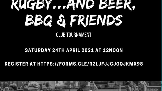 Rugby, Beer and BBQ -  Ready for Rugby 24th April at 12noon