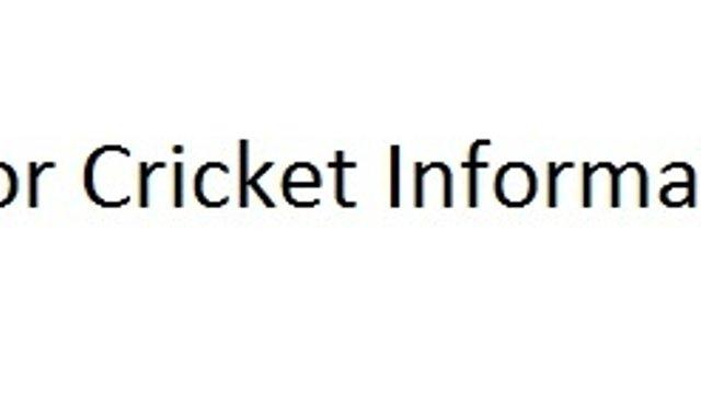 Junior Cricket Information
