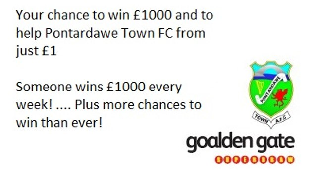 Help The Club By Joining Our GOALDEN GATE SuperDraw