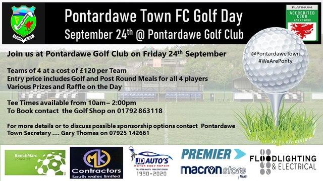 Pontardawe Town Golf Day - 24th September 2021