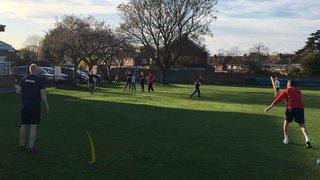 Cheltenham Ladies practising hard