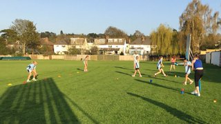 Glorious weather for first junior training