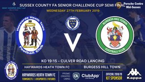 Heath To Face Burgess Hill Town In The Sussex Senior Cup Semi-Final