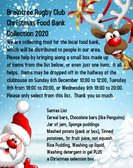 Club collection of food items for the local food bank