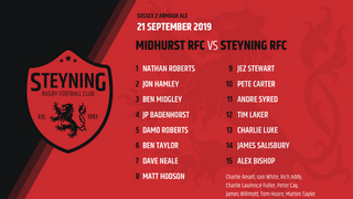 TEAM ANNOUNCEMENT - Midhurst v Steyning 21 - 09 - 19
