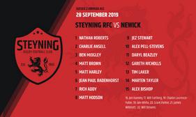 TEAM ANNOUNCEMENT - Steyning v Newick  28 - 09 - 19