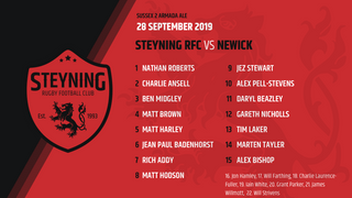 TEAM ANNOUNCEMENT - Steyning v Newick  28 - 09 - 19