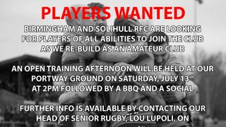 Players wanted