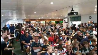 England Win watched in Clubhouse