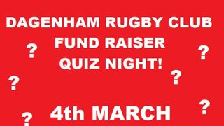 Quiz night Friday 4th March