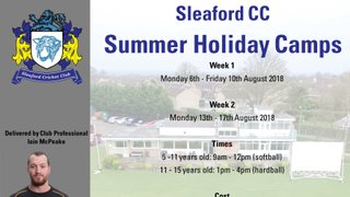 Sleaford CC Summer Holiday Camps