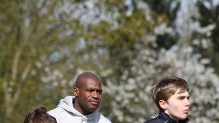 Chris Robshaw and Ugo Monye came to MKRUFC