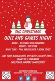 SHC Quiz and Games Night!