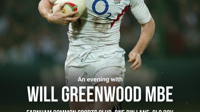 Come and join us for an Evening with England World Cup winner & Lions legend Will Greenwood on Thursday 2nd May 7pm.