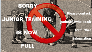 Junior Training - some age groups are full!