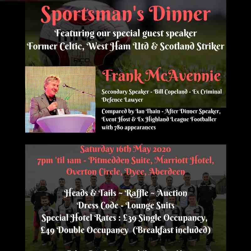 Annual Sportsman's Dinner