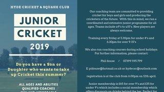 Reminder - Junior Registration Night Friday 12th April