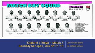 England v Tonga - RWC 2019