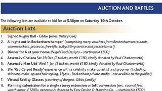 Auction & Raffle prizes