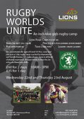 Girls Rugby Camp - Wednesday 22 and Thursday 23 August