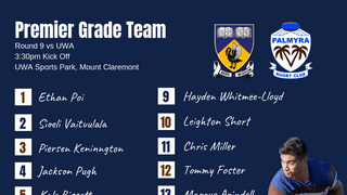 Premier Grade side announced for Round 9 Clash