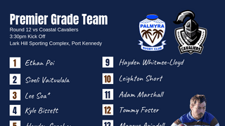 Premier Grade side announced for Round 12 Clash