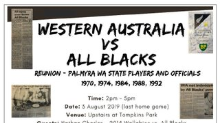 Reunion – Palmyra Players & Officials involved in WA State Teams vs All Blacks