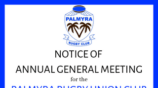 Palmyra Rugby Union Club AGM