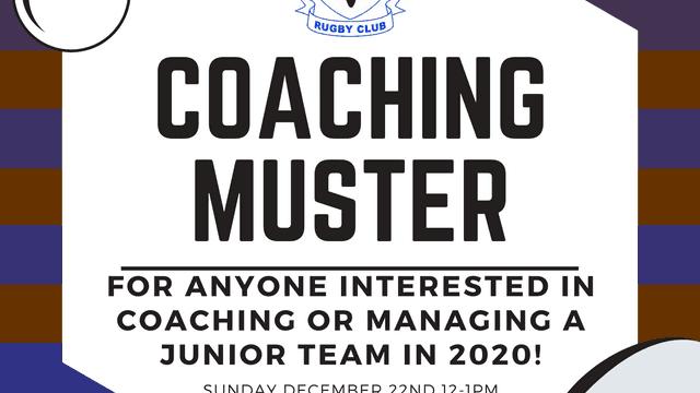Junior Coaching Muster