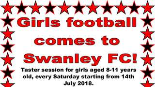 Girls Football Comes to Swanley Fc