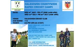 Rapids Camps Coming to Halesowen Cricket Club
