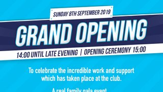 Grand Opening - Celebrate the official opening of our clubhouse