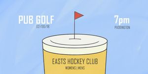 Easts Pub Golf - The Fifth Major