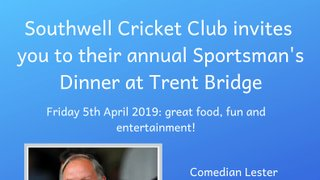 2019 Sportsman's Dinner at Trent Bridge