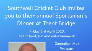 2020 Sportsman's Dinner at Trent Bridge