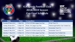 ICA Sports FC Cup Final Schedule