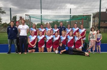 The Ladies winning team Spalding with their trophy