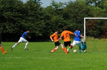 Dorman and Bray look on as Cracknell pokes the ball home for the equaliser